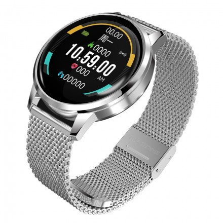 Smart Watch D28 -  (Фитнес-браслет, Защита от воды, Беспроводная зарядка)