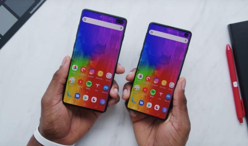 Samsung Galaxy S10 и S10+ реальные макеты показали на видео